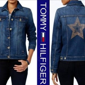 Tommy Hilfiger Blue Star Jeweled Bling Jacket  💫